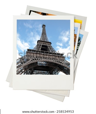 Travel photo collage isolated on white background - stock photo
