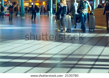 travel photo taken at airport - stock photo