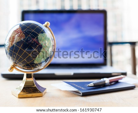 Travel plans - stock photo