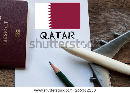 Travel Qatar  - stock photo