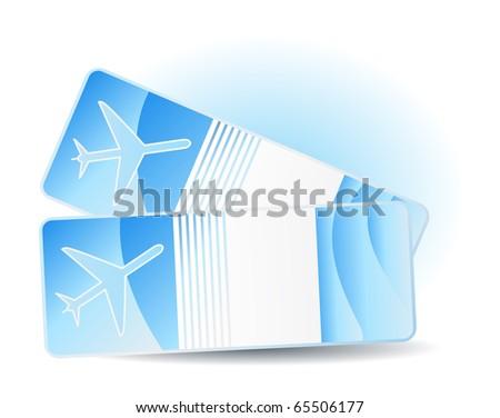 Travel tickets - stock photo