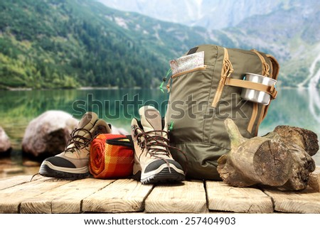 travel time and shoes  - stock photo