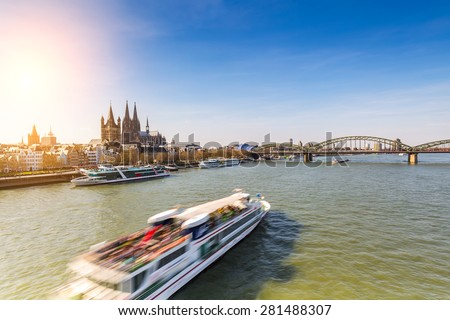 travel to cologne in germany - stock photo