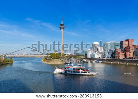 travel to Dusseldorf in Germany - stock photo