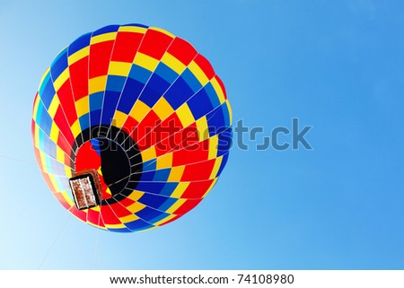traveling by balloon - stock photo