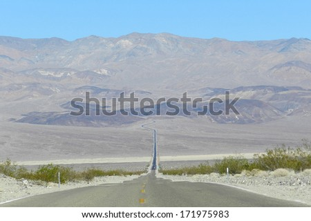 Traveling the Death Valley, USA                  - stock photo