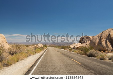 traveling the Joshua Tree National Park, California, USA - stock photo
