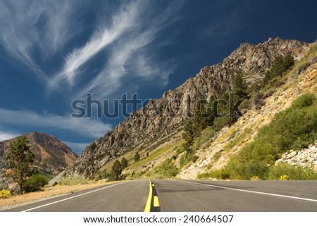Traveling Yosemite National Park, California, USA - stock photo