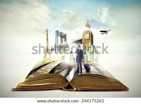 Travelling around the world  - stock photo