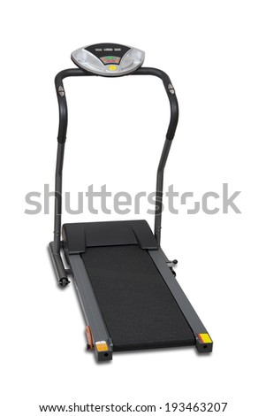 Treadmill isolated over white with clipping path  - stock photo