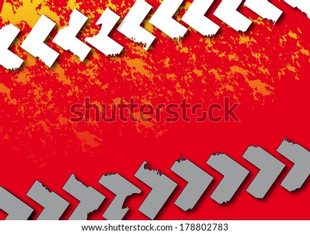 Treads with splashes of color in the Background - stock photo
