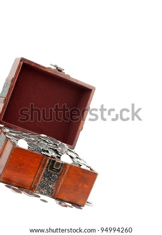 Treasure Chest. Isolated on a white background - stock photo