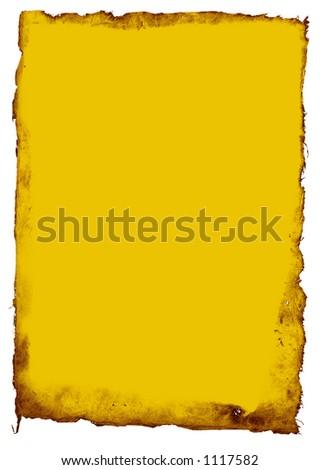 Treasure Map - Yellow - stock photo