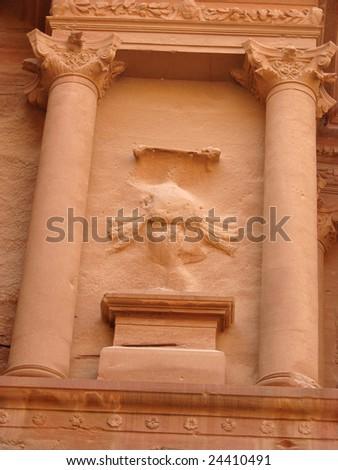 Treasury in ancient Petra, Jordan - stock photo