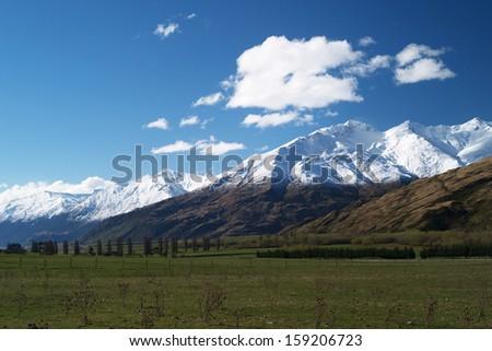 Treble Cone, Wanaka, New Zealand - stock photo