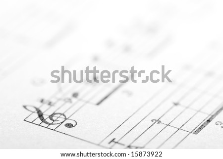 treble music concept background, copy space for the text - stock photo
