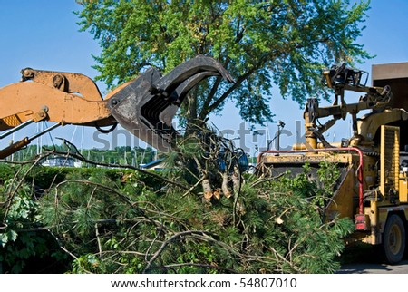 tree removal equipment - stock photo