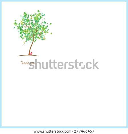 Tree - Text Box - Thank you - stock photo