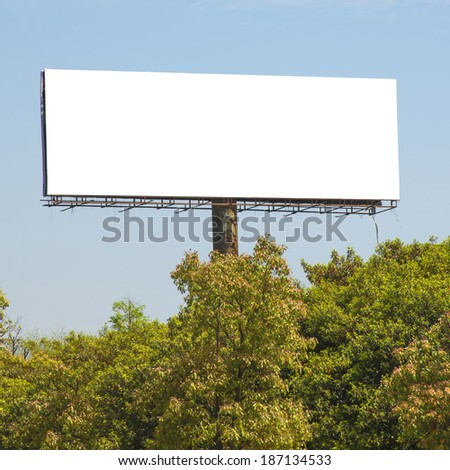 Trees and billboards - stock photo