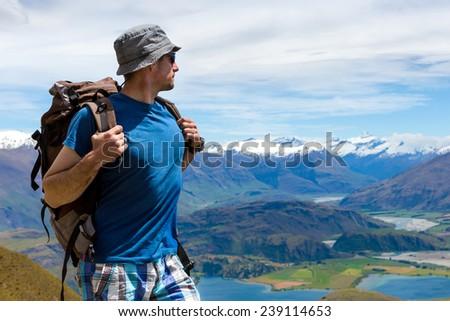 Trekking in New Zealand - stock photo