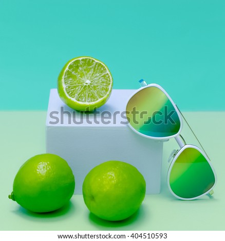 Trend Sunglasses. Fresh Summer Cocktail Mix - stock photo