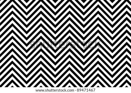 Trendy chevron patterned background black and white - stock photo
