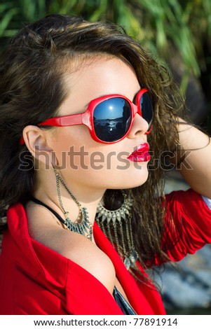 Trendy chick - stock photo