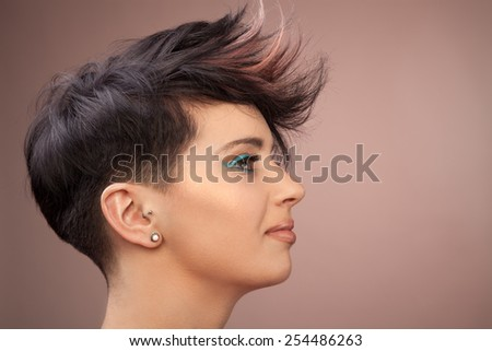 Trendy hair do - stock photo