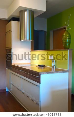 Trendy kitchen interior - stock photo