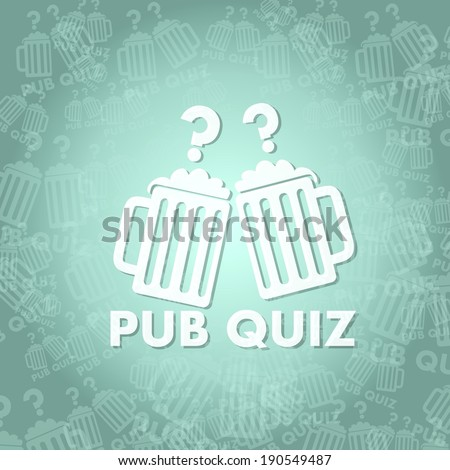 trendy pub quiz symbol background with space for own text - stock photo