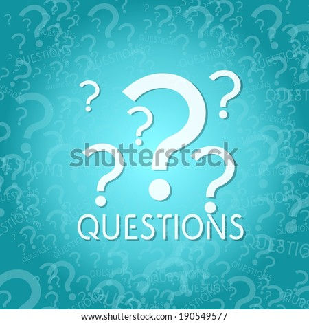 trendy question symbol background with space for own text - stock photo