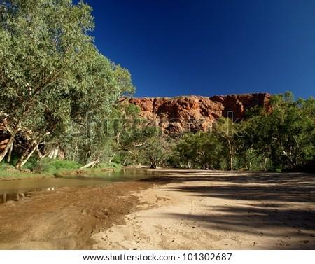 Trephine gorge near Alice Springs, australia - stock photo