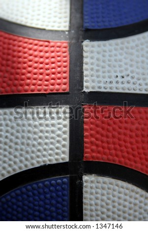 Tri-color basketball - stock photo