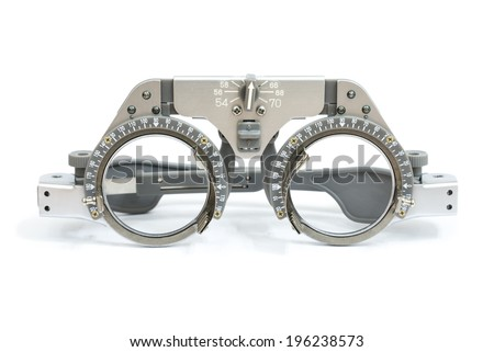 trial frame for eye testing - stock photo