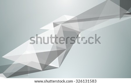 triangle abstraction, geometrical triangulation effects - stock photo