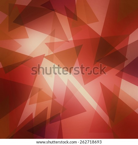 triangle pattern background with random abstract background design and texture, red pink gold and brown triangles layered on off white background - stock photo