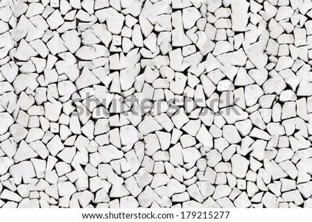 Triangle pebble stone flooring seamless texture - stock photo