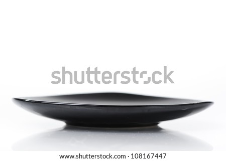 Triangle saucer isolated on white background - stock photo
