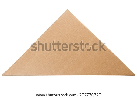 Triangle shaped cardboard box isolated on a white background - stock photo
