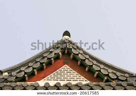 Triangular Asian Palace Roof(Release Information: Editorial Use Only. Use of this image in advertising or for promotional purposes is prohibited.) - stock photo
