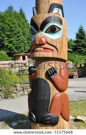tribal beaver totem - stock photo
