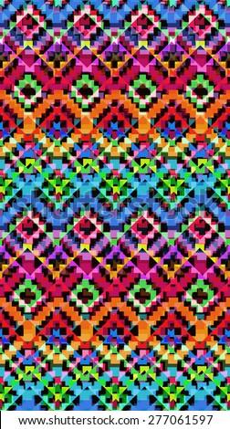 Tribal Chevron design ~ seamless background - stock photo