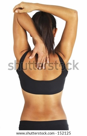 Tricep Stretch - stock photo