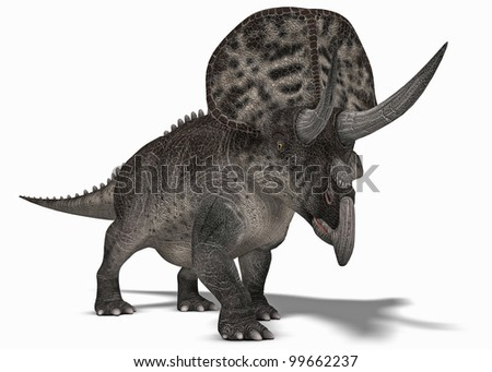 Triceratops front - stock photo