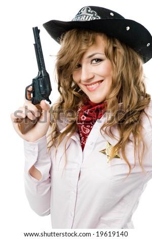 Tricky sheriff - stock photo