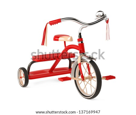 tricycle isolated - stock photo