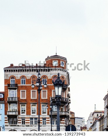 trieste a very beautiful town in italy - stock photo