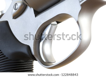 Trigger and triggerguard on a double action revolver - stock photo