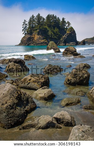 Trinidad State Beach in Humboldt County, California - stock photo