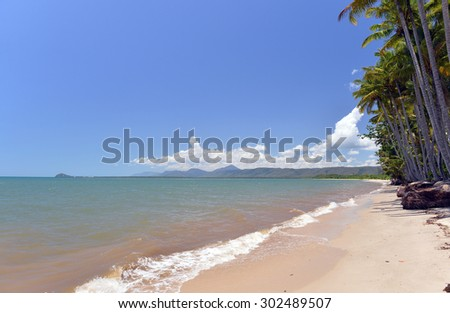 Trinity Beach,, Great Barrier Reef,, Queensland, Australia -1 - stock photo
